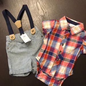 Cat & Jack Matching Sets - Cat & Jack Outfit with Suspenders Newborn